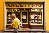 Via Nassa, Lugano, Ticino, Switzerland, august 2014.