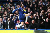 Gonzalo Higuain celebrates scoring Chelsea's opening goal during Chelsea vs Huddersfield Town, Premier League Football at Stamford Bridge on 2nd February 2019