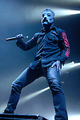 Slipknot Performs on there All Hope Is Gone World Tour (2008–2009).(#8) Corey Taylor – lead vocals,.Photo Credit: Eddie Malluk/AtlasIcons.com