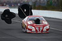 Mar 14, 2015; Gainesville, FL, USA; NHRA pro stock driver John Gaydosh during qualifying for the Gatornationals at Auto Plus Raceway at Gainesville. Mandatory Credit: Mark J. Rebilas-