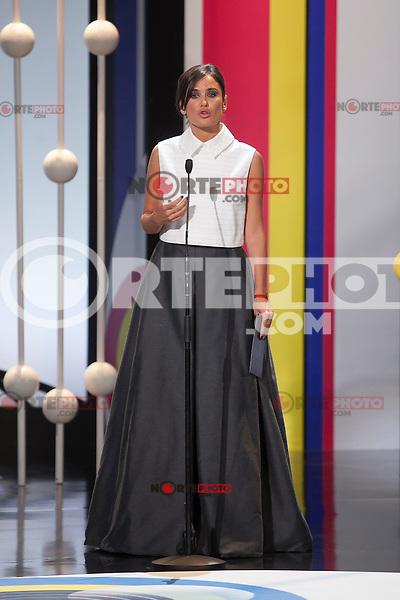 Elena Sanchez during the 63rd Donostia Zinemaldia opening ceremony (San Sebastian International Film Festival) in San Sebastian, Spain. September 18, 2015. (ALTERPHOTOS/Victor Blanco) /NortePhoto.com