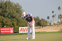 Martin Kaymer (GER) takes his putt on the 5th green during Friday's Round 3 of the Commercial Bank Qatar Masters 2013 at Doha Golf Club, Doha, Qatar 25th January 2013 .Photo Eoin Clarke/www.golffile.ie