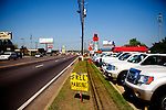 National Hills Baptist Church, which is surrounded by lots charging $20, is offering free parking during The Masters Golf Tournament and is just one block from Augusta National Golf Course in Augusta, Georgia April 6, 2010. The church members offered free coffee and parking, along with prayers that car owners requested and filled out on cards and left on their windshields in the lot.