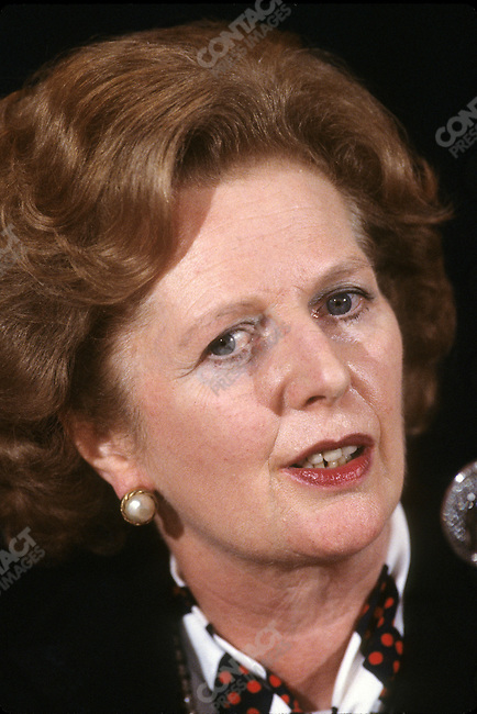 British Prime Minister Margaret Thatcher attends the 40th anniversary celebration of the United Nations, New York City, New York, USA, October 1985