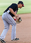 El Paso Diablos 3rd Baseman Martin Parra (21) in action during the American Association of Independant Professional Baseball game between the El Paso Diablos and the Fort Worth Cats at the historic LaGrave Baseball Field in Fort Worth, Tx. El Paso defeats Fort Worth 6 to 1.