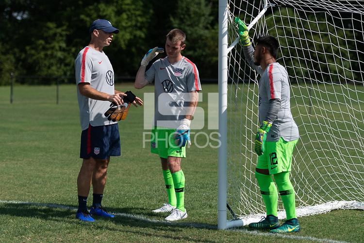Rome, GA - Friday, June 21, 2019:  Mike McGinty, Carter Alvey, Marc Estrella during a Para 7 USMNT training session.