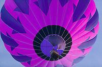 A hot air balloon lifts off during the Adirondacks Balloon Festival.