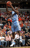 North Carolina Tar Heels guard P.J. Hairston (15) grabs a rebound during the game against Virginia in Charlottesville, Va. North Carolina defeated Virginia 54-51.