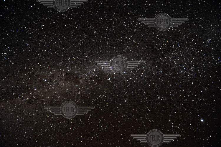 A view of the night sky above the Northern Cape, showing stars and other astronomical entities.