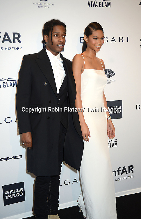 Aesop  Rocky and Chanel Iman attends the amfAR New York Gala on February 5, 2014 at Cipriani Wall Street in New York City.