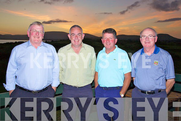 At the Presidents Prize in Waterville G.C. on Sunday were invited guests from Dooks Golf Club l-r; Mike Breen, Brian Spillane, Donal Brosnan & Mick Freeley...Ref Jim