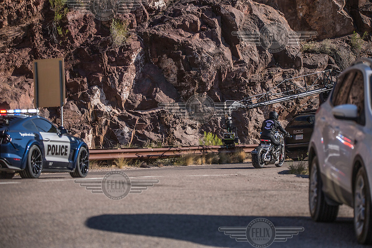 "On location of the movie ""Transformers 5 The Last Knight"" , E7, being filmed near Theodore Roosevelt Dam in Arizona. The film has just started filming and further filming will take place in locations like Detroit, Ireland, Great Britan and Iceland. <br />