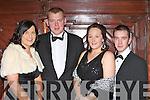 Having fun at  the Kerry County Hunt club in the Killarney Avenue Hotel on Friday night l-r: Kelly Murray, Timmy O'connor Castleisland, Mary Mangan Headford and Adrian Fleming Scartaglen..
