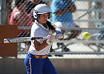 Wildcats' Gabrielle Canibeyaz hits against Colorado Northwestern at Edmonds Sports Complex Carson City, Nev., on Friday, April 17, 2015. WNC won both games 8-0, 11-3.<br /> Photo by Cathleen Allison/Nevada Photo Source
