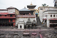 Burning ghats, Pashupati Nath temple in Kathmandu, Nepal