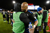 San Jose, CA - Saturday, March 04, 2017: Victor Bernardez after a Major League Soccer (MLS) match between the San Jose Earthquakes and the Montreal Impact at Avaya Stadium.