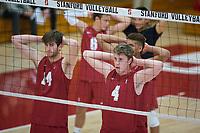 STANFORD, CA - December 30, 2017: Kyler Presho, Eric Beatty at Burnham Pavilion. The Stanford Cardinal defeated the Calgary Dinos 3-1.