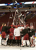 - The Harvard University Crimson practiced at the United Center on Wednesday, April 5, 2017, in Chicago, Illinois.