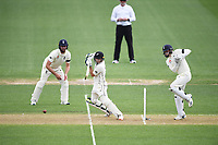29th November 2019, Hamilton, New Zealand;  Tom Latham batting during play on day 1 of the 2nd international cricket test match between New Zealand and England at Seddon Park, Hamilton, New Zealand. Friday 29 November 2019