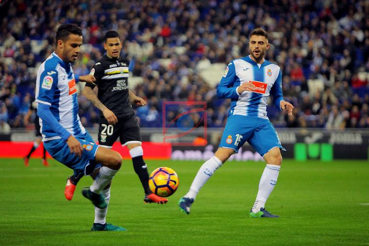 League Santander 2016/2017. Game: 13.<br /> RCD Espanyol vs CD Leganes: 3-0.<br /> Diego Reyes &amp; David Lopez.