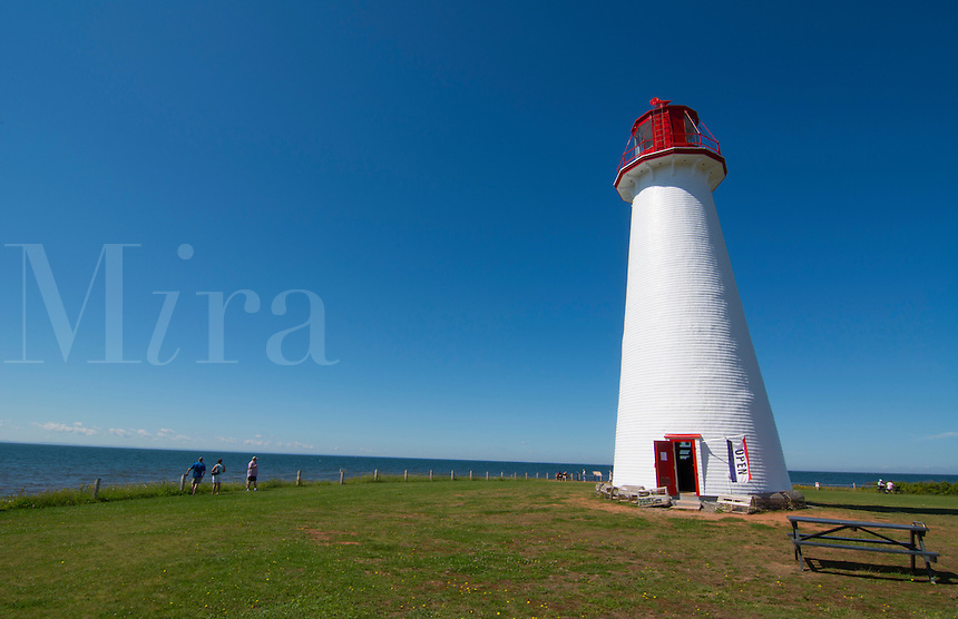 Canada Prince Edward Island, P.E.I. oldest lighthouse in PEI called Prim Point Light Station 1895 Point Prim