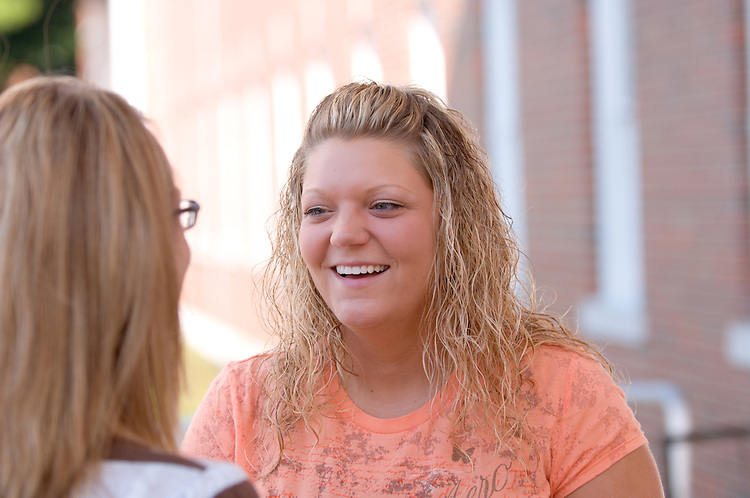 18322OU Chillicothe Campus ..Amber Coon(orange)..Rebekah Halterman(stripes)