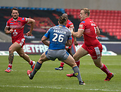 June 4th 2017, AJ Bell Stadium, Salford, Greater Manchester, England;  Rugby Super League Salford Red Devils versus Wakefield Trinity;  Craig Kopczak of Salford tries to run past Chris Annakin of Wakefield Trinity