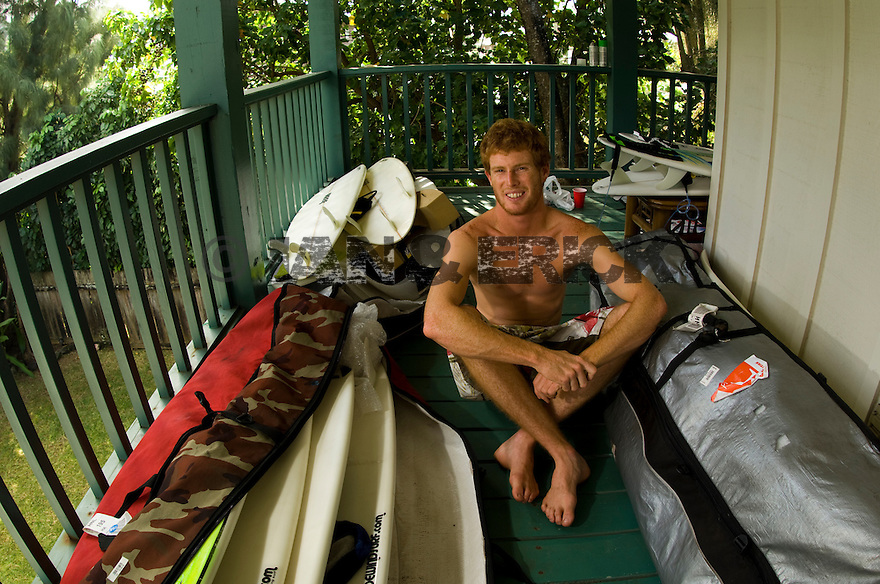 Australian Michael Short at the Reef house at Rocky pt, Hawaii