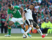 June 11th 2017, Dublin, Republic Ireland; 2018 World Cup qualifier, Republic of Ireland versus Austria;  Jonathan Walters of Ireland battles with Aleksander Dragovic of Austria