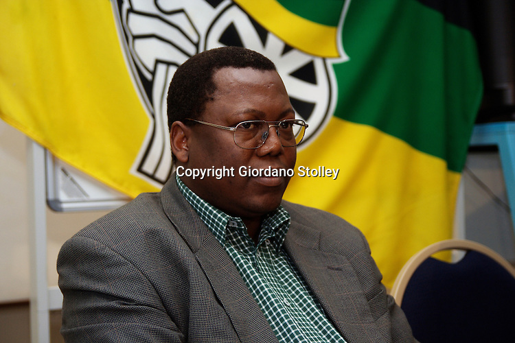DURBAN - 15  July 2006 - KwaZulu-Natal's MEC for Local Government, Traditional Affairs and Housing, Mike Mabuyakhulu answers questions at a press conference of the ruling African National Congress' provincial general council..Picture: Giordano Stolley.
