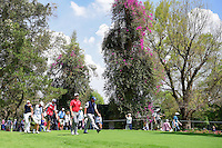 Jon Rahm (ESP) and Phil Mickelson (USA) make their way down 6 during round 4 of the World Golf Championships, Mexico, Club De Golf Chapultepec, Mexico City, Mexico. 3/5/2017.<br /> Picture: Golffile | Ken Murray<br /> <br /> <br /> All photo usage must carry mandatory copyright credit (&copy; Golffile | Ken Murray)