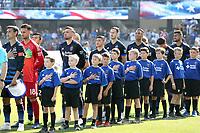 San Jose, CA - Sunday October 21, 2018: San Jose Earthquakes  prior to a Major League Soccer (MLS) match between the San Jose Earthquakes and the Colorado Rapids at Avaya Stadium.