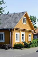 Holzhaus der Karäer in Trakai, Litauen, Europa
