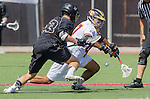 Orange, CA 05/17/14 - Michael Simboski (Colorado #53) and Courtland Jones (Arizona State #47) in action during the 2014 MCLA Division I Men's Lacrosse Championship game between Arizona State and Colorado at Chapman University in Orange, California.  Colorado defeated Arizona State 13-12.