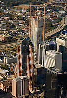 Aerial view of Charlotte's quickly growing downtown.  Picture includes the tower that was being built by Wachovia for its banking operations.