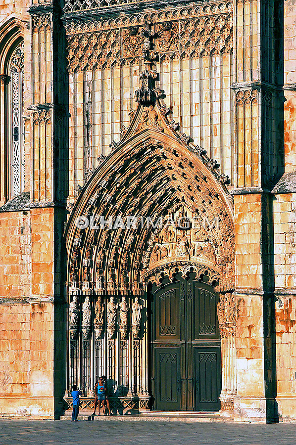 Mosteiro da Batalha, estilo gótico manuelino. Portugal. 2005.  Foto de  Rogério Reis.
