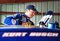 May 1, 2009; Richmond, VA, USA; NASCAR Sprint Cup Series driver Kurt Busch during practice for the Russ Friedman 400 at the Richmond International Raceway. Mandatory Credit: Mark J. Rebilas-