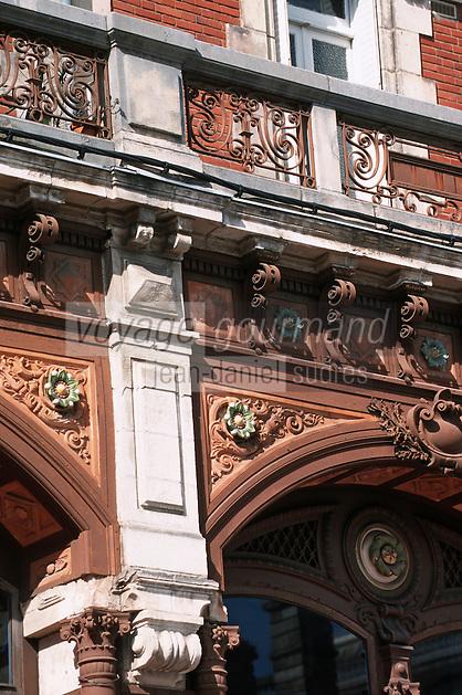 Europe/France/Bretagne/56/Morbilhan/Vannes: Détail immeuble Art déco rue Alexandre Le Grand