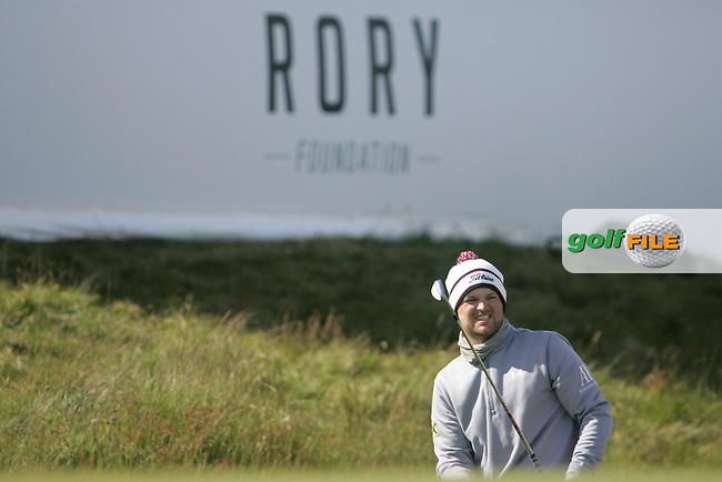 Bernd WIESBERGER (AUT) on the 18th green during the final round of the 2015 Dubai Duty Free Irish Open hosted by the Rory Foundation, Royal County Down Golf Club, Newcastle Co Down, Northern Ireland. 31/05/2015<br /> Picture TJ Caffrey, www.golffile.ie