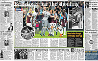 Daily Express - 11-May-2018 - 'Brawl over bar the shouting' - Photo by Rob Newell (Camerasport via Getty Images)