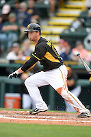 Infielder Chris McGuiness (69) of the Pittsburgh Pirates during a spring training game against the New York Yankees on February 26, 2014 at McKechnie Field in Bradenton, Florida.  Pittsburgh defeated New York 6-5.  (Mike Janes/Four Seam Images)