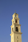Israel, Tel Aviv-Yafo, the bell tower of the Franciscan St. Peter's Church in Old Jaffa