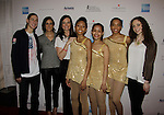 Jason Brown poses with skaters at Skating with the Stars - a benefit gala for Figure Skating in Harlem in its 17th year is celebrated with many US, World and Olympic Skaters honoring Michelle Kwan and Jeff Tweedy on April 7, 2014 at Trump Rink, Central Park, New York City, New York. (Photo by Sue Coflin/Max Photos)