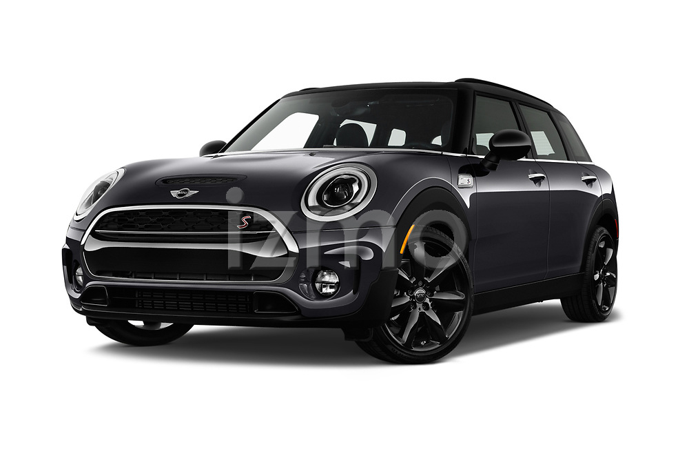 Stock pictures of low aggressive front three quarter view of 2017 MINI Cooper Clubman-S-ALL4 5 Door Wagon Low Aggressive