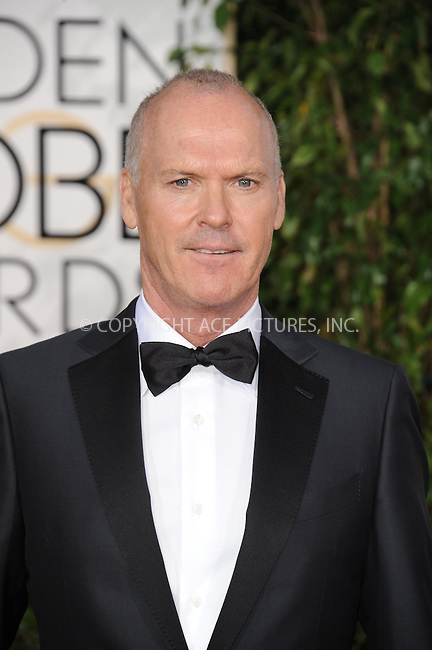 WWW.ACEPIXS.COM<br /> <br /> January 11 2015, LA<br /> <br /> Michael Keaton arriving at the 72nd Annual Golden Globe Awards at The Beverly Hilton Hotel on January 11, 2015 in Beverly Hills, California.<br /> <br /> By Line: Peter West/ACE Pictures<br /> <br /> <br /> ACE Pictures, Inc.<br /> tel: 646 769 0430<br /> Email: info@acepixs.com<br /> www.acepixs.com