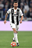 Leonardo Spinazzola of Juventus in action during the Uefa Champions League 2018/2019 round of 16 second leg football match between Juventus and Atletico Madrid at Juventus stadium, Turin, March, 12, 2019 <br />  Foto Andrea Staccioli / Insidefoto