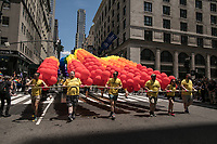 NEW YORK JUNE 25:  People take part in the annual New York Gay Pride Parade walking along Fifth Avenue on June 25, 2017 in New York. (Photo by Maite H. Mateo/VIEWpress/Corbis via Getty Images)