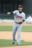 Kevin Medrano (1) of the Visalia Rawhide in the field during a game against the Rancho Cucamonga Quakes at LoanMart Field on May 6, 2015 in Rancho Cucamonga, California. Visalia defeated Rancho Cucamonga, 7-2. (Larry Goren/Four Seam Images)