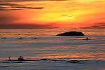 Kayaking at sunset near Dana Point