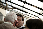 January 24, 2008. Spartanburg, SC.. Presidential candidate and former US senator, John Edwards campaigned across the western part of South Carolina today in an effort to shore up support before Saturday's primary election.. Edwards spoke to diners at the Beacon Drive In in Spartanburg.